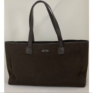Gucci canvas & leather tote bag ! 👜